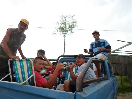 Familias de pescadores, presentes en la lucha.
