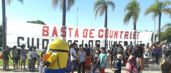 Movilización en Tigre a mediados de noviembre. (Foto: Fernando Poggi)