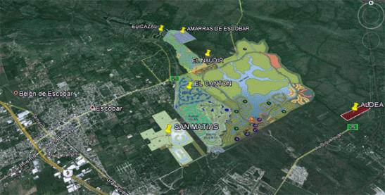 Avance peligroso de los emprendimientos inmobiliarios sobre la superficie de Escobar, mayoritariamente sobre los humedales, que poseen un altísimo valor ambiental.