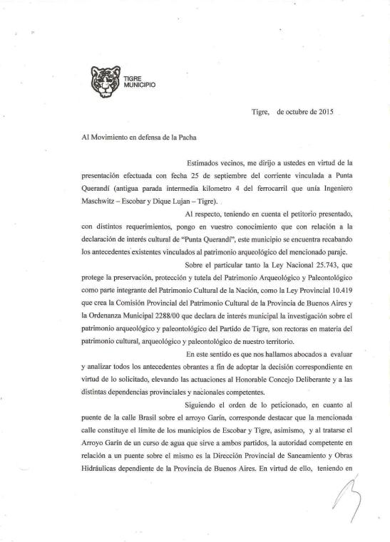 2015 - Municipio de Tigre - Octubre - 16 - Respuesta de Zamora al petitorio (hoja1)x