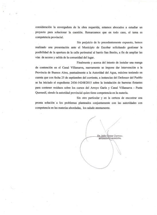 2015 - Municipio de Tigre - Octubre - 16 - Respuesta de Zamora al petitorio (hoja2)x