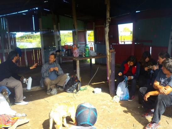 Después del almuerzo, asamblea en el salón comunitario Cacique Manuá.