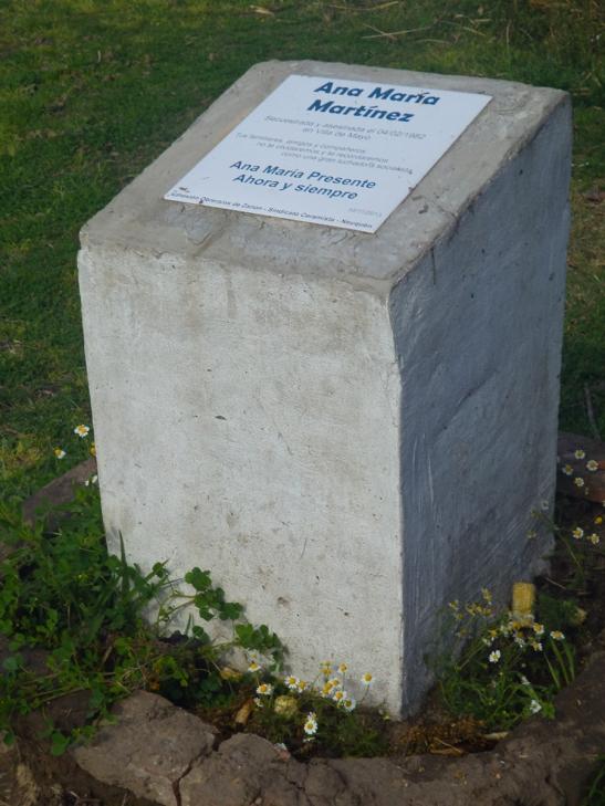 Punta Querandí también es sitio de la memoria del terrorismo de Estado: un pequeño sector del espacio en conflicto logró este reconocimiento por el Concejo Deliberante de Tigre en junio de 2014.