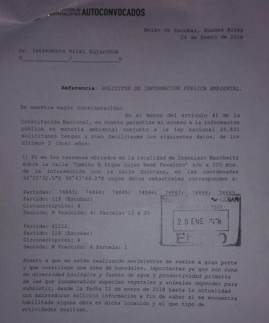 Solicitud de información al Municipio 01