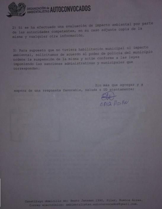 Solicitud de información al Municipio 02