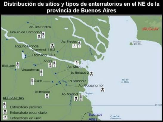 Mapa de entierros